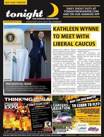liberal caucus to meet with kathleen wynne - tonight Newspaper