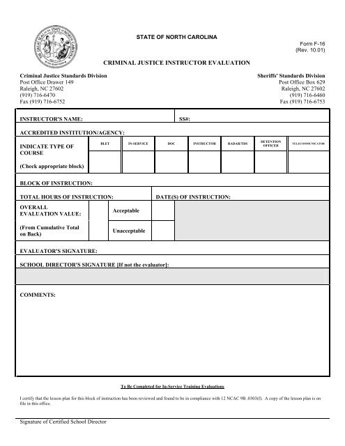 F-16 C J  Instructor Evaluation Form