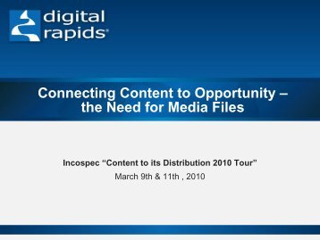 Connecting Content to Opportunity - Incospec Communications Inc.