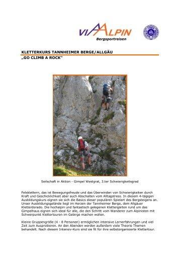 "kletterkurs tannheimer berge/allgäu ""go climb a rock"" - Via-Alpin.de"