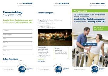 Fax-Anmeldung - CGM SYSTEMA