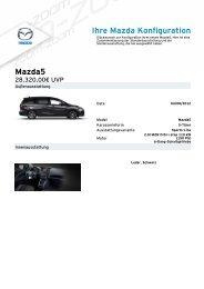 Ihre Mazda Konfiguration Mazda5 - Mazda Autohaus Rottmann
