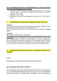 Gesetzliche Grundlagen zur Einfuhr von ... - Sea-Help