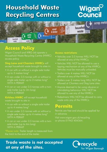 Recycle Centre Leaflet - Wigan Council