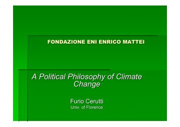 A Political Philosophy of Climate Change - Iefe