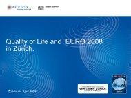 Quality Of Life And EURO 2008 In Zürich - podarenterprise.com