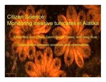 Citizen Science: Monitoring invasive tunicates in Alaska