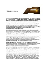 Umfangreiches Fußball-Rechtepaket bis 2015 für SPORT1+: Serie A ...