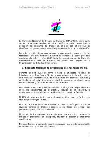 1 La Comisión Nacional de Drogas de Panamá, CONAPRED ... - cicad