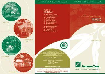 NT- REID brochure v2 [09-2009] - National Trust of Australia