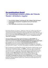 Der modellgepflegte Mazda3 vier ... - Mazda Autohaus Rottmann