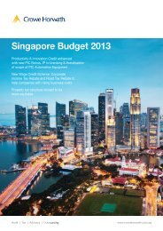 Singapore Budget 2013 Newsletter - Crowe Horwath International