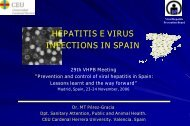 Hepatitis E infections in Spain - Viral Hepatitis Prevention Board
