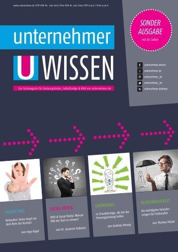 unternehmer WISSEN - Sonderausgabe 1 - Michael Storl ...