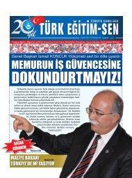 Genel Başkan İsmail KONCUK Hükümeti sert bir ... - Türk Eğitim-Sen