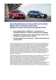 Neuer Mazda6 kommt im Februar 2013 auf den Markt Beginn des ...