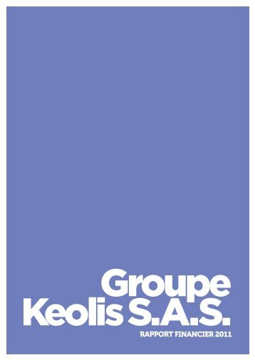 Rapport financier GROUPE KEOLIS SAS