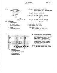 Test 2 Solutions - Thomas AP Statistics
