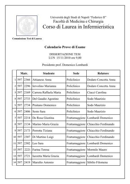 Calendario Ade Unina.Universita