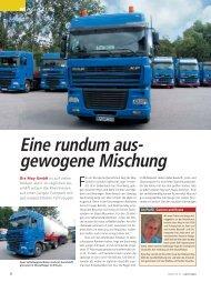 Eine rundum aus- gewogene Mischung - May Transporte GmbH