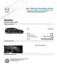 Ihre Mazda Konfiguration Mazda6 - Mazda Autohaus Rottmann
