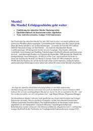 Mazda2 Die Mazda2 Erfolgsgeschichte geht weiter