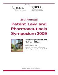 Patent Law and Pharmaceuticals Symposium 2009 - Weil, Gotshal ...