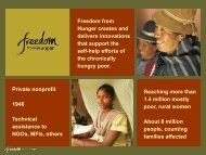 Freedom from Hunger.pdf - Results for Development Institute