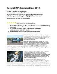Euro NCAP-Crashtest Mai 2012 - Mazda Autohaus Rottmann