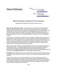 Willis Pooling Practice Celebrates Its 25 Year Anniversary Mitigating ...