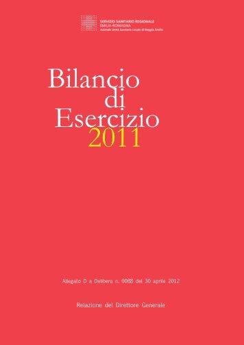 Copertine Bilanci Esercizio 2012.indd - Azienda USL di Reggio Emilia