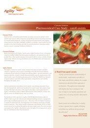Pharmaceutical Case Study - sanofi-aventis - Agility