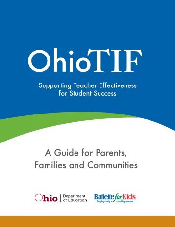 Ohio TIF-A Guide for Parents, Families and Communities - SEOVEC