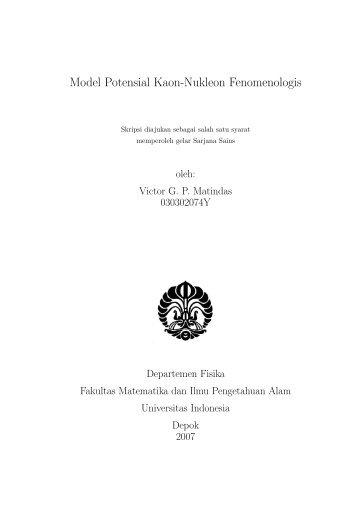 Model Potensial Kaon-Nukleon Fenomenologis - Universitas ...