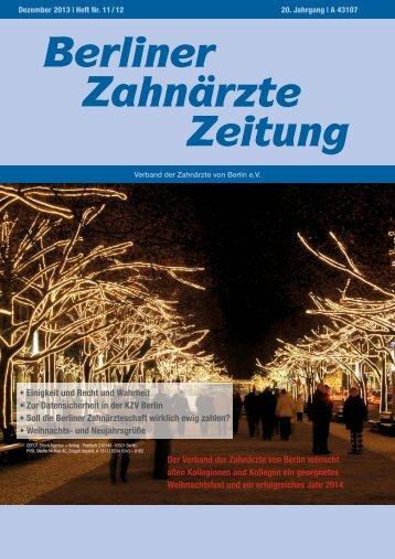 BZZ_2013_1112 - Verband der Zahnärzte von Berlin