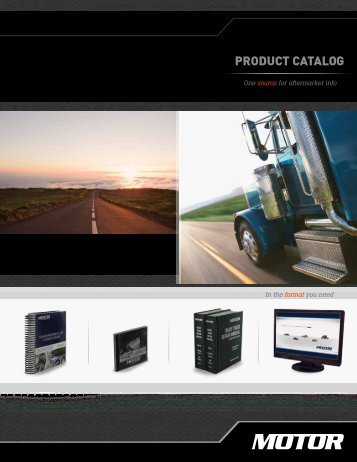 PRODUCT CATALOG - MOTOR Information Systems