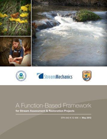 A Function-Based Framework for Stream Assessment & Restoration ...
