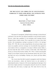 the prevalence and correlates of consanguineous marriages in ...