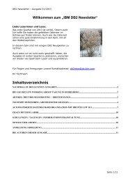 DB2 Newsletter 01/2013 - Ordix AG