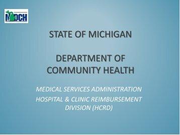Medicaid Reimbursment Update 2013