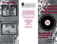 Poultry Science Youth Conference - University of Arkansas