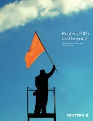 Reuters 2005 and beyond - Thomson Reuters