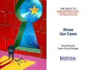 iKnow Use Cases - InterSystems Benelux