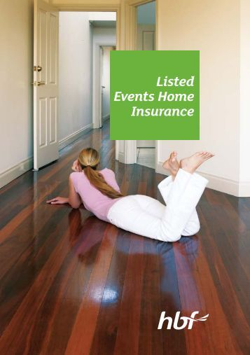 Listed Events Home Insurance - HBF