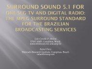 Surround Sound 5.1 for one-seg TV and digital radio: the ... - SET