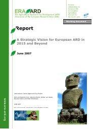 A Strategic vision for European ARD in 2015 and Beyond - ERA ARD