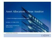 Asset Allocation – Neue Ansätze - Forum Vermögensverwaltung ...