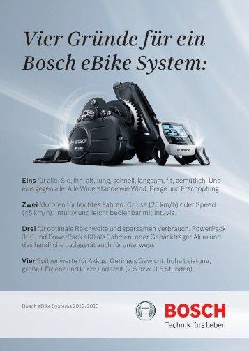 Vier Gründe für ein Bosch eBike System: - Zweirad und Motorrad ...