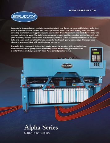 Alpha Series - Commercial Laundry Equipment Company