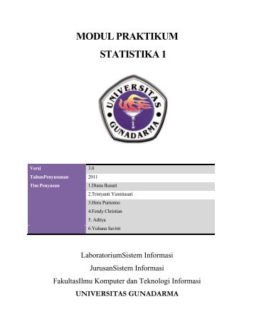 MODUL PRAKTIKUM STATISTIKA 1 - iLab - Universitas Gunadarma